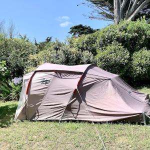 庭のテントは快適らしい