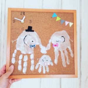 ママハピ アリオ西新井  2月8日開催予定  手形足形ぺったんアートで世界に一つの時計づくり