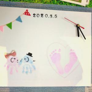 2か月赤ちゃんも頑張った!ららぽーと豊洲 3月5日  手形足形ぺったんアートで世界に一つ