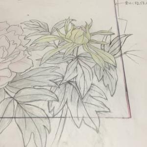 F4 牡丹(絹本)…草稿
