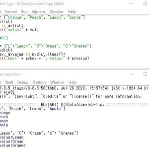 Python--制御文--for文