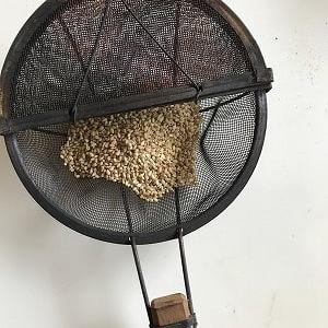 すり鉢で冷や汁作る