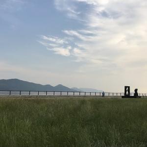 暑くて昼は散歩できない~~朝のサンポート@高松