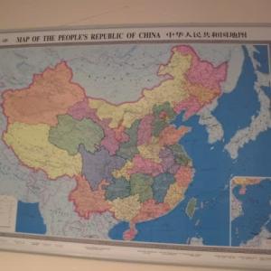 台湾人には気になる地図、日本人にはちょいとほっとする地図?