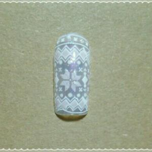 白いネイル ~冬用試作~