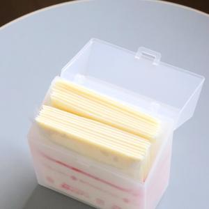 【セリア】冷蔵庫の小物収納・専用ケースでシンデレラフィットヾ(*´∀`*)ノ
