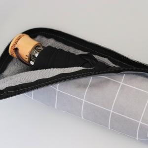 【ダイソー】ファスナータイプが便利!全開できる優秀な折りたたみ傘カバーを発見!