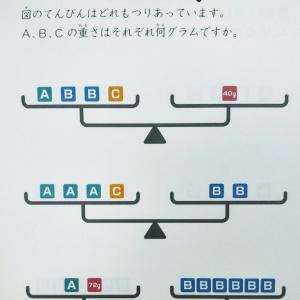 【終】宮本算数教室の賢くなるパズル―てんびん中級【9歳4ヶ月】