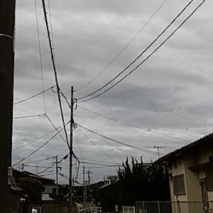 雲厚く暖かな朝