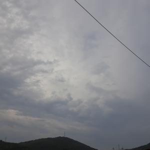 曇り空です。