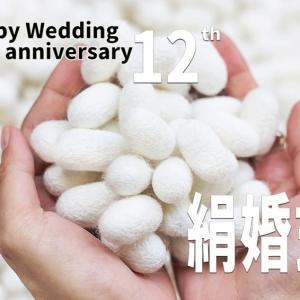 今日は絹婚記念日