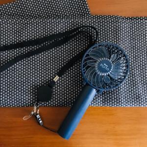 移動自粛緩和…夏の暑さ+コロナ対策!!青山でお得に購入した?!3WAYのハンディファン