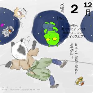 12月2日 日本人宇宙飛行記念日