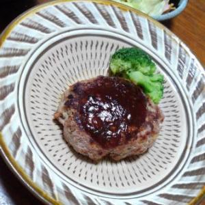 小鹿田焼(おんたやき)とハンバーグ、素朴な雰囲気がいいですよね