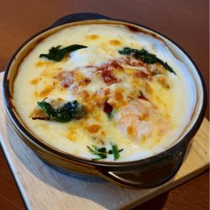 『ADHOC』シーフードドリアは、アサリ、海老、イカが入っていて、美味しかった。