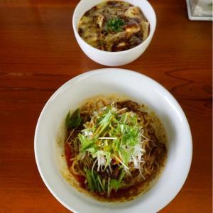 『四川野郎』汁なし担担麺とチーズ麻婆豆腐丼の王道コンビを頂く!