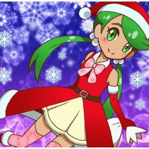 ポケモンクリスマス絵・サンタマオちゃん2020。