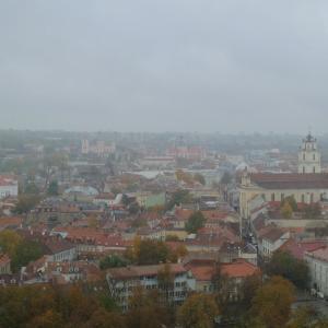 週末リトアニア その14 ビリニュスを一望できるゲディミナス塔。