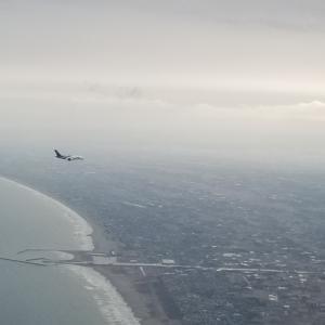 飛行機の併走?