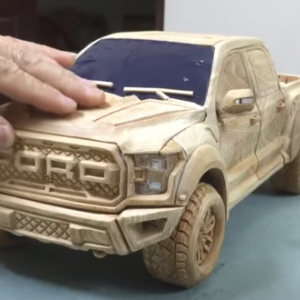 【最強動画strongest Video】木彫り-フォードF150ラプター2020-・Wood Carving - Ford F150 RAPTOR 2020 - Woodworking Art