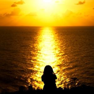 夕陽色の空