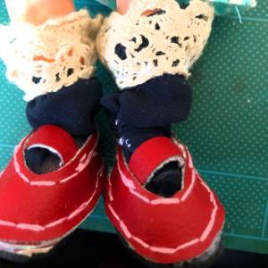 6話目:合皮はぎれでドール靴に挑戦!