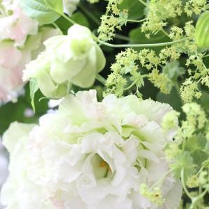 運気もアップ!爽やかなお花で6月は花束にしました