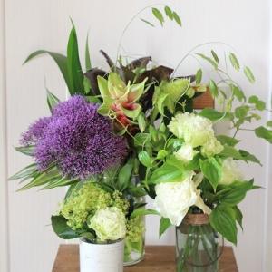 7月自宅玄関のお花