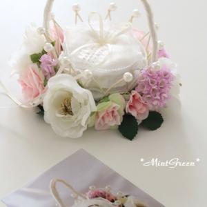 ウエディングに欠かせない幼いリングベアラーにぴったりなリングピロー(花 30)