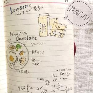 絵日記5/17、ローソンのパッケージデザインがかわいい