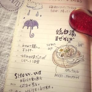絵日記:6/13、雨降りの土曜日