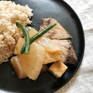 茶色飯。ぶり大根×玄米