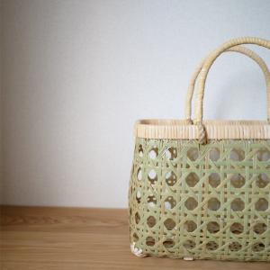 【キッチン収納】八つ目編みの竹かご