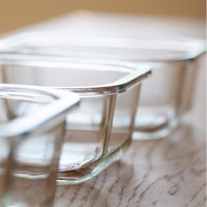 【100円ショップDaiso】四角いガラスの食器がお値段以上