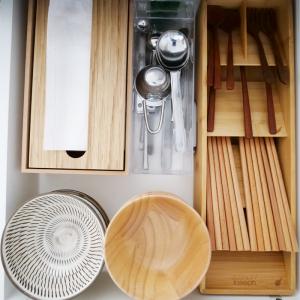 【キッチン収納】カラトリーの収納を見直しました。