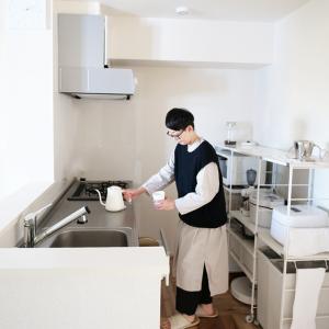 キッチンの物を少し減らして収納の見直し。