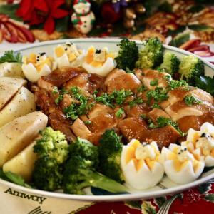 クリスマス料理 ローストチキンノルマンディー風