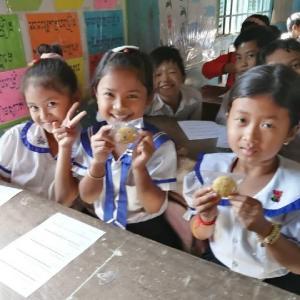 カンボジアの子供たちの3割が栄養不足