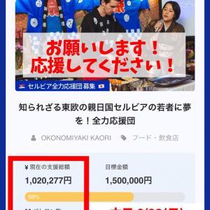 本日  クラウドファンディング最終日 セルビアと日本の架け橋になりたい!