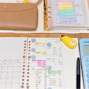 手書き家計簿はじめました