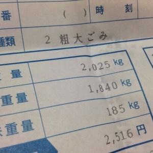 【持ち込み粗大ゴミ185キロ】これが最終処分になるか?