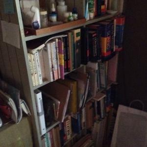 ノコギリで本棚をガリガリ切ってみた【本と本棚の縮小】