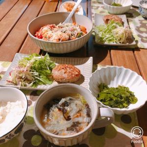 ストック食材で 野菜中心なおうちご飯
