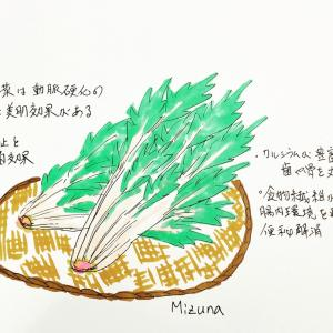 ヒラヒラ野菜水菜の効能…うちで過ごそう