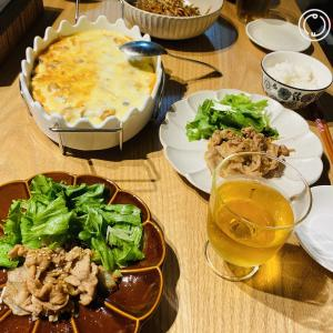 トッポギと鶏肉のクリームグラタン カルディアレンジ