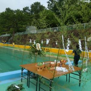 冠嶽神社、長崎鼻海水浴場プール開き安全祈願祭