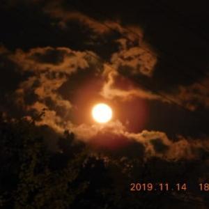 月が東から昇って来ました