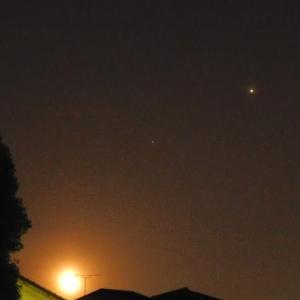 月・土星・木星の朝までの変化を楽しむ
