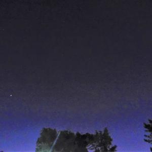 夜中ひとり、木星・土星・火星と月と過ごす