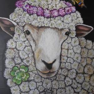 幸せのクローバー羊